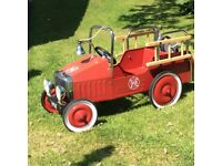 Pedal car Fire Engine ,free uniform with it