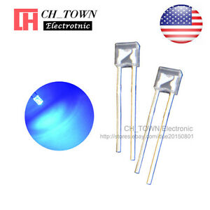 100pcs 2x3x4mm Water Clear Blue Light Rectangle Rectangular Square LED Diodes