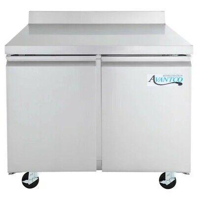 Avantco 36 Worktop Refrigerator With 3 12 Backsplash