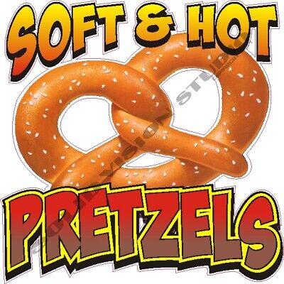Pretzels Concession Food Truck Cart Hot Dog Stand Weatherproof Vinyl Menu Decal