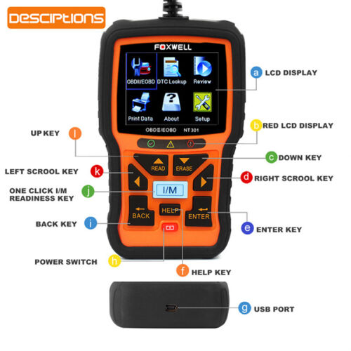 NT301 EOBD OBD2 Car Scanner Diagnostic Fault Code Reader Scan Car & Truck Parts