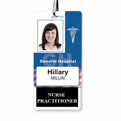 Nurse Practitioner Vertical Badge Buddy For Np - Usa Printed By Specialist Id