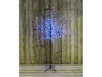 6ft 200 Led Blue White Berry Christmas Tree