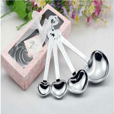 30 Double Heart Measuring Spoons Gifts Wedding Cheap Favors for Party -