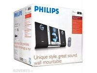 NEW BOXED Philips Micro Hi-fI System stereo wall mountable
