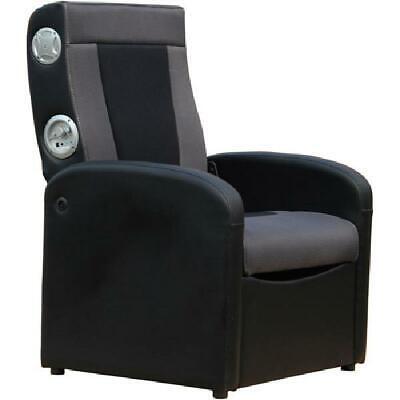 X Rocker 2.1 Flip Gaming Chair with Storage, Black/Gray