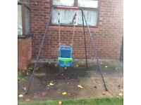 Kids garden swing