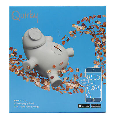 Quirky Porkfolio Smart Piggy Bank that tracks your savings