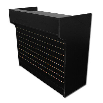 4 Black Slatwall Front Knockdown Ledge Top Counter Pos Counter 21d X 42h