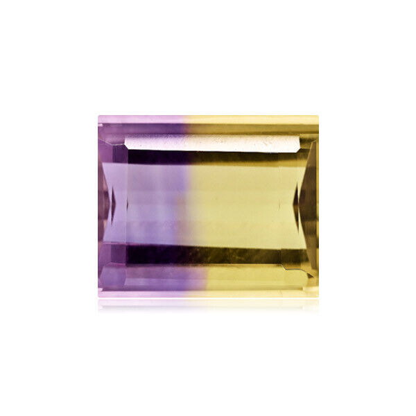 11.00-11.58 Cts of 11.7x14.1 mm AA Emerald Cut Bolivian Ametrine Loose Gemstone