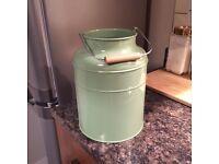 Sage green bucket/vase