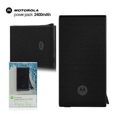 OEM Motorola 2400 Slim Pocket Power Bank Pack 2400mAh External Battery