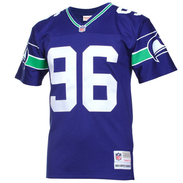 outlet store a3628 70fe9 Details about Mitchell & Ness 1993 Kennedy Cortez #96 Seattle Seahawks NFL  Blue Replica Jersey