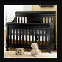 4 in 1 black crib