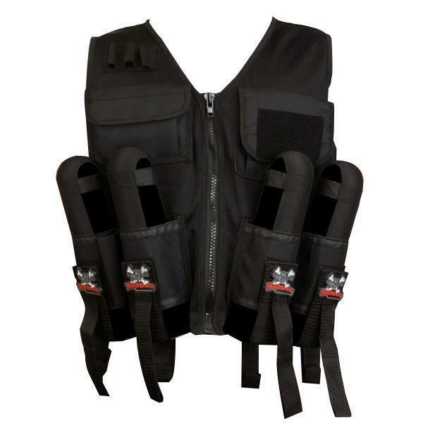 Maddog Lightweight Paintball Sport Vest Black Milsim