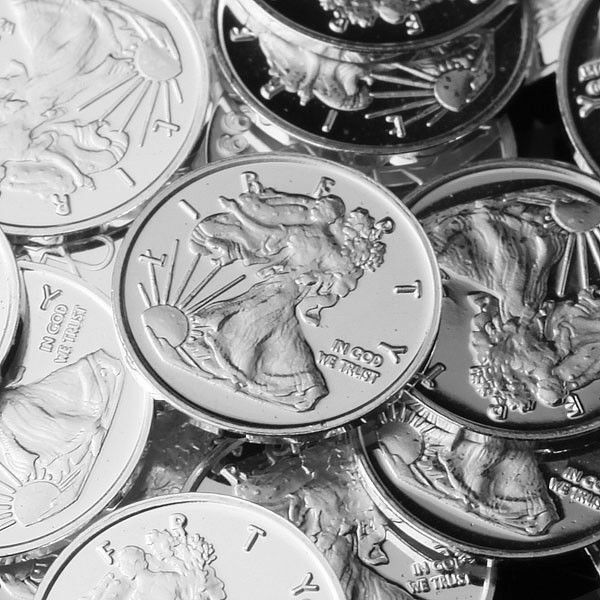 Lot of 30 - 1g .999 Fine Silver Round Bar Bullion / mini coin  / oz RE326
