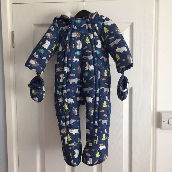 Snowsuit - F&F - Size 6-9 Months - Excellent Used Condition