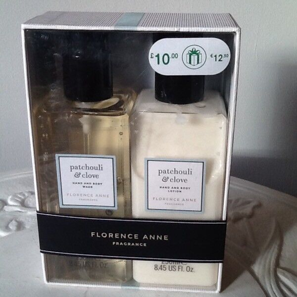 Florence Anne Patchouli & clove hand & body wash and lotion