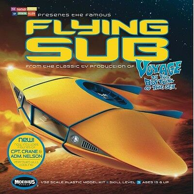 Moebius 817 1/32 VTTBS Flying Sub Revised Plastic Model Kit