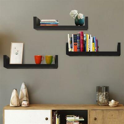 Set of 3 Floating Display Shelves Ledge Bookshelf Wall Mount Storage Home Décor Dining Room Set Bookcase