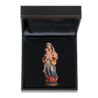 Virgin Mary with Infant Jesus - Woodcarving - Gift Box - German Italian (Virgin Mary Baby Jesus)