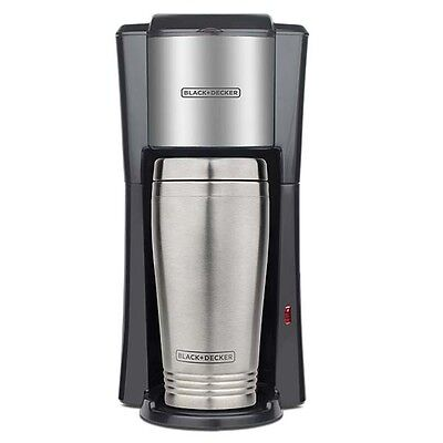 Black & Decker Single-Serve Coffee Maker with 2 16-Ounce Travel Mug 220 Volts