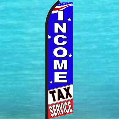 Income Tax Service Swooper Flag Wind Flutter Feather Advertising Banner Sign