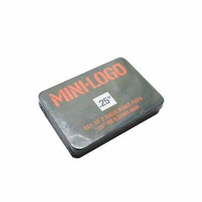 "0.25"" MINI LOGO RISER PAD RIGID set of 2 pads hard skateboard 1/4"