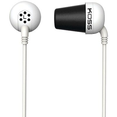 KOSS 185331 The Plug In-Ear Headphones (White), Comfort Memory foam Ear cushions Koss The Plug