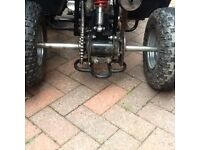Quad bike rear axel