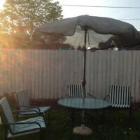 10 pieces patio set in a good condition