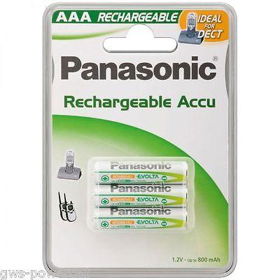 3 x Panasonic AAA Akku´s Evolta Ni-MH Micro 1,2V 750mAh DECT Schnurlos Telefon (Panasonic Akku 3 Telefon)