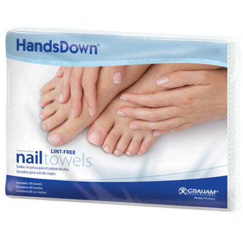 Hands Down Lint Free Nail Towels 50 Towels  #42900 Graham Beauty