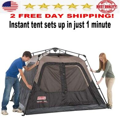Coleman Cabin Tent with Instant Setup camping 4 person  set up in 1 min NEW