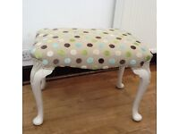 Dressing table large sprung stool