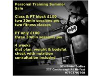 Personal Training summer offers for ladies