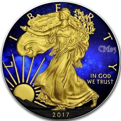2017 1 Oz Silver $1 UNIVERSE EAGLE Coin, BOX AND COA.