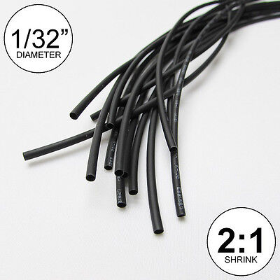 132 Id Black Heat Shrink Tube 21 Ratio Wrap 14x9 10 Ft Inchfeetto 0.8mm
