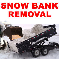 SNOW BANK REMOVAL