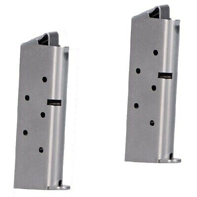 Colt Mustang ONLY - No Government 380acp 6rd Stainless Factory Magazine -