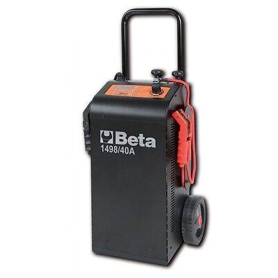 Caricabatterie avviatore multifunzione 12-24 Volt carrellato 1498/40A BETA