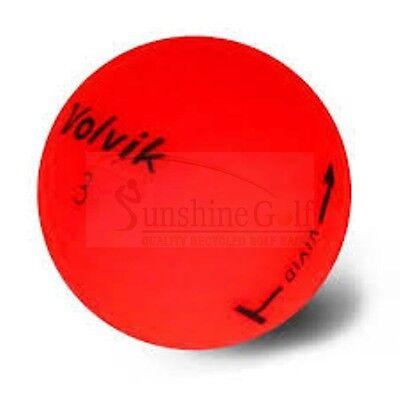 Red Balls (12 AAA Volvik Vivid Matte Red Used Golf Balls (3A) - FREE)