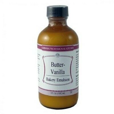 Vanilla Emulsion - LorAnn Flavoring Oil BUTTER VANILLA BAKERY EMULSION FLAVOR 4 oz.