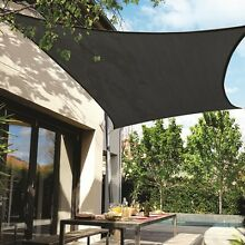 SHADE SAIL - Large 5m charcoal shade sail w fixed metal corners North Strathfield Canada Bay Area Preview