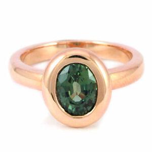 14k Rose Gold Green Tourmaline Ring (1.20 ct.) #1501