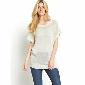 Size 22-24 Short Sleeve Jumper in Neutral