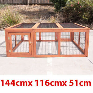 ENCLOSURE RUN FOR RABBIT GUINEA PIG HUTCH CAGE PEN 01B