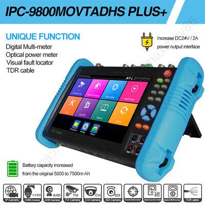 7 Camera Tester 4k H.265 Ahd Cvi Tvi Sdi Multimeter Tdr Ipc-9800movtadhs Plus