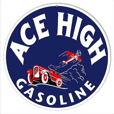 Reproduction Ace High Gasoline 14 Round Sign