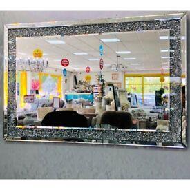 **Blingy Crushed Diamond Wall Mirror (80x120cm)**